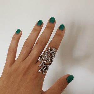 American Eagle Silver Floral Ring